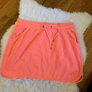 Gap Hot Pink Drawstring Mini Skirt Size Medium